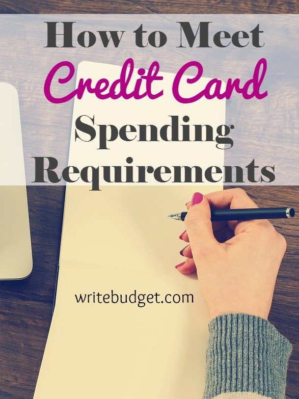 spending requirements