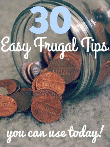 30 frugal tips