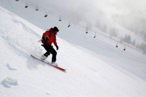 snowboarding ski resort