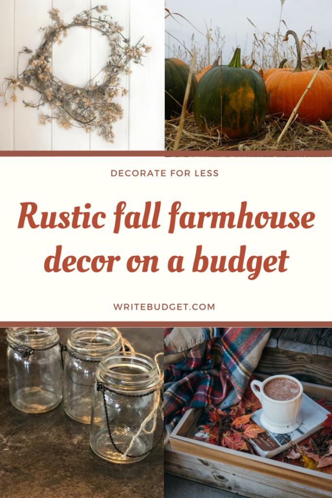 fall farmhouse decor on a budget the write budget. Black Bedroom Furniture Sets. Home Design Ideas