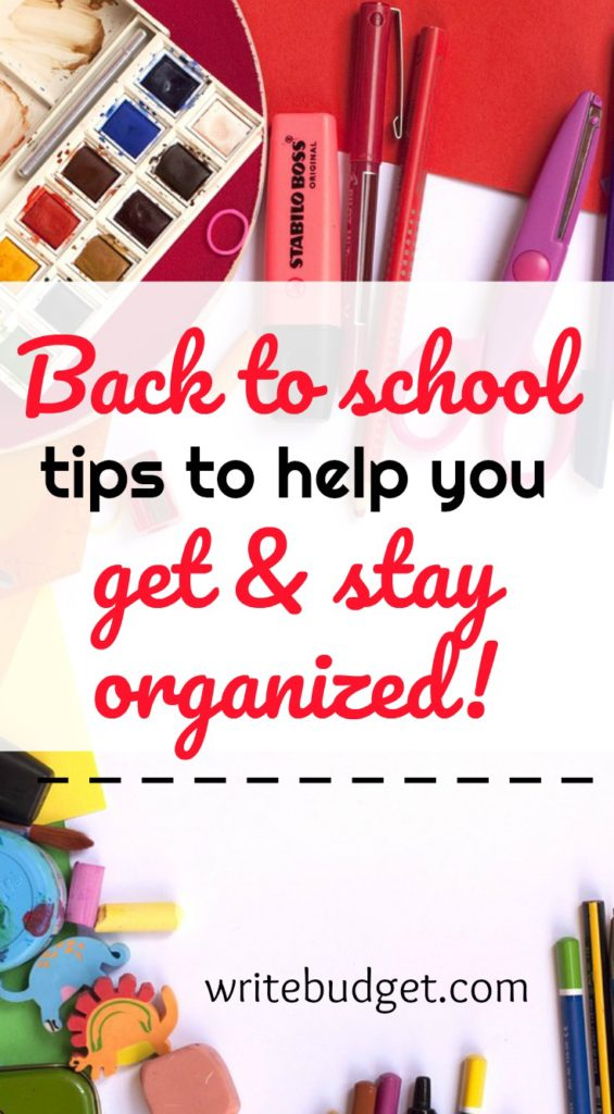Back to school tips to get organized