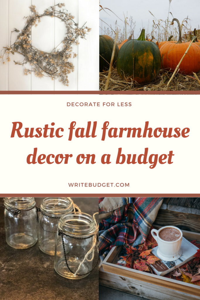 Decorate with rustic farmhouse style