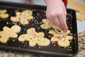 Christmas budget cookie baking