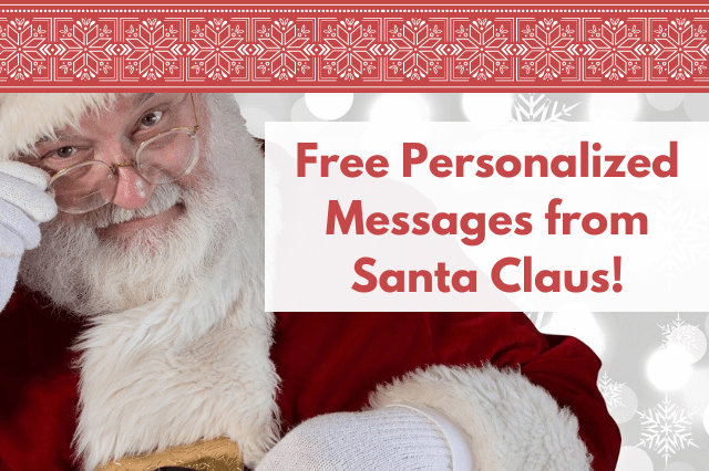 Surprise the Kids with a Free Santa Message